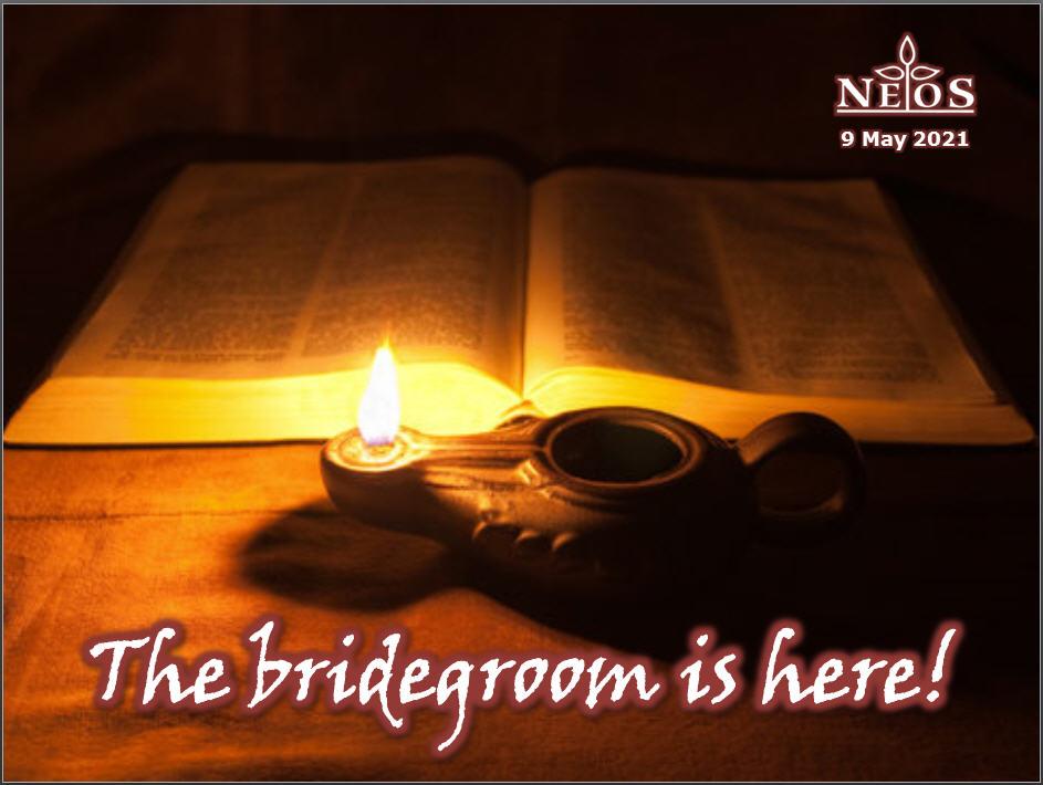 The bridegroom is here